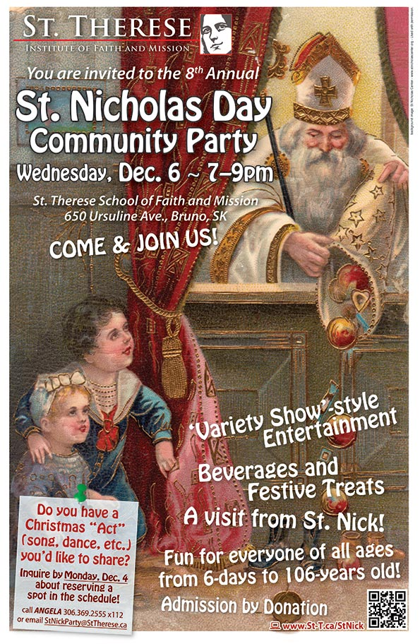 St. Nicholas Day Party - 2017 - 8th Annual @ St. Therese Institute