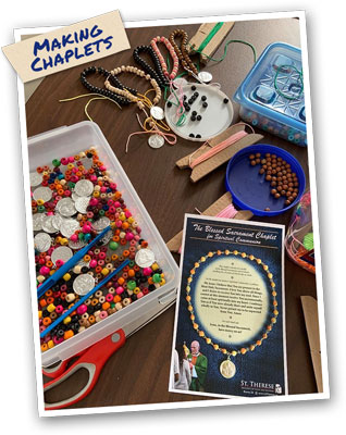 Making Chaplets - Spiritual Communion / Blessed Sacrament Chaplet