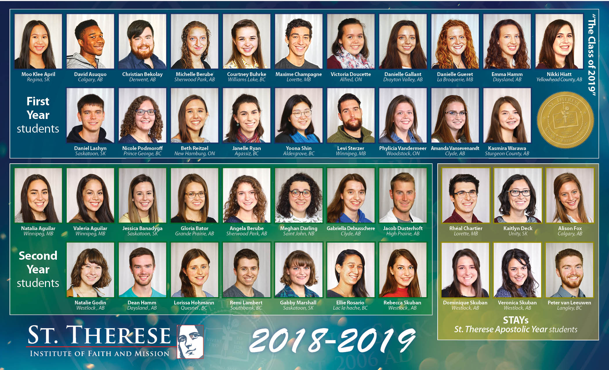 St. Therese Faith Formation Program - Class of 2018 2019