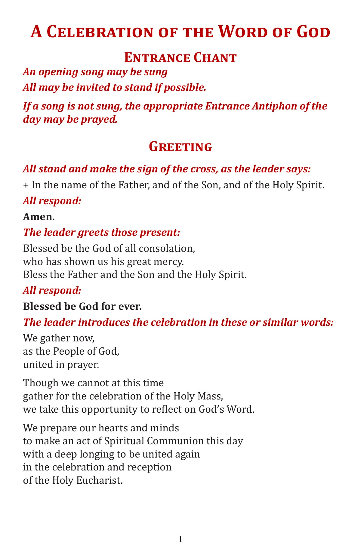 A Celebtation of the Word of God booklet page 3