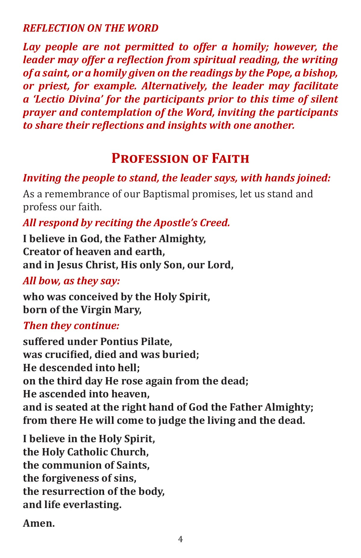 A Celebtation of the Word of God booklet page 6