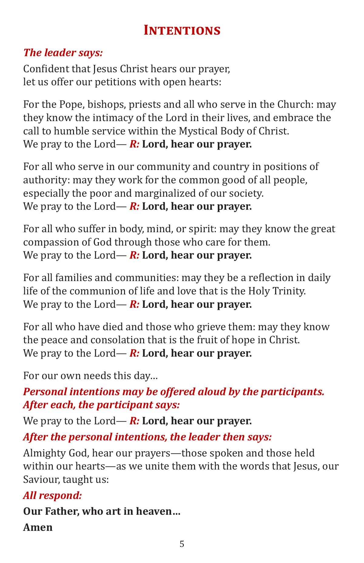 A Celebtation of the Word of God booklet page 7