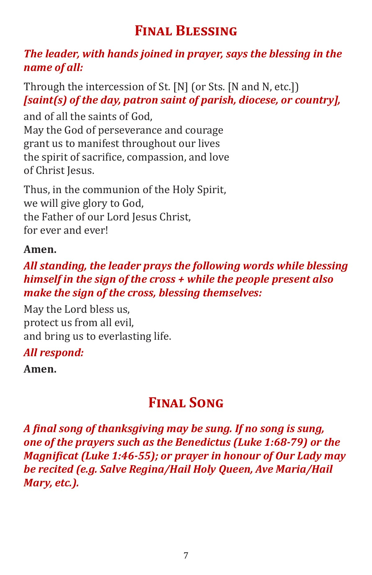 A Celebtation of the Word of God booklet page 9