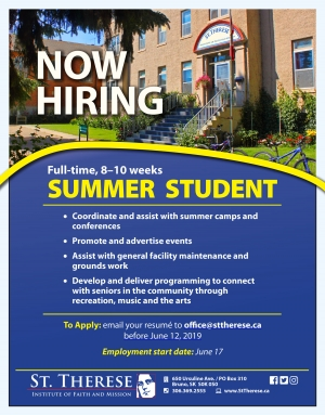 Summer Student position (full time, 8-10 weeks)