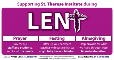 Supporting St. Therese Institute this Lent